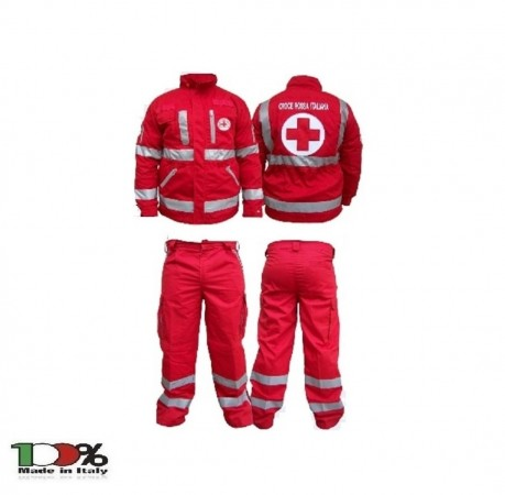 Completo Giacca + Pantalone C.R.I. CRI Croce Rossa Italiana Nuovo Capitolato 2010 Art.SS-COMP-CRI