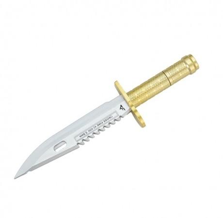 Penna a Sfera a Forma Coltello Militare Baionetta e Tagliacarte Idea Regalo Militare Rambo Art. PENNA-COL