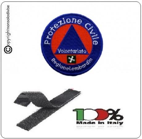 Toppa Patch con Velcro Protezione Civile Regione Lombardia Volontari Art.EU721B