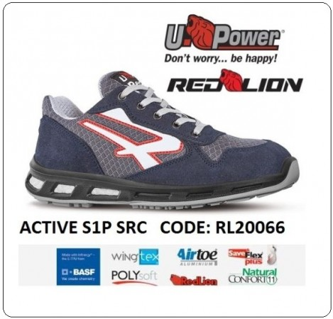 Scarpa Lavoro ACTIVE S1P-SRC Red Lion Antinfortunistica UPawer Art.RL20066