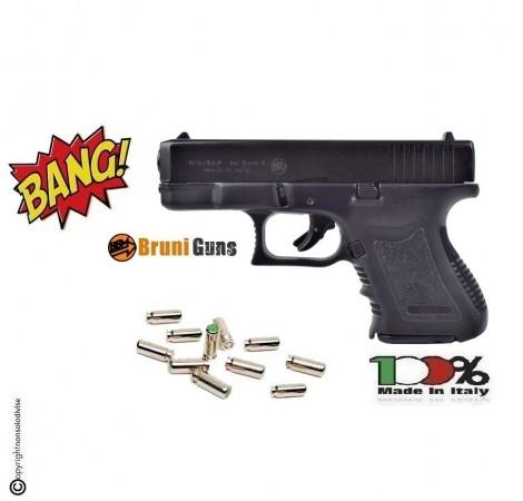 Pistola a Salve Bruni MiniGap Glock Nero 8 mm a Salve Prodotto Italiana Starter Sport Piccioni Art. BR-1100