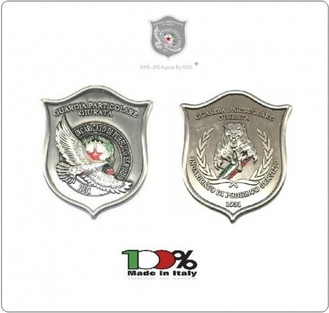Placca Senza Clip G.P.G I.P.S AQUILA® + PANTERA® Guardia Particolare Giurata Incaricato di Pubblico Servizio Art.GPG-A-P