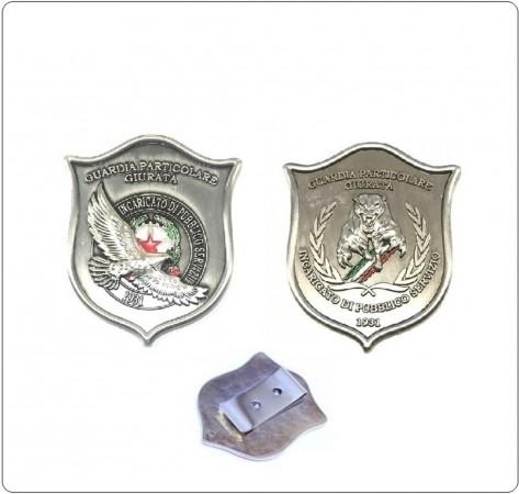 Placca Con Clip G.P.G I.P.S AQUILA® + PANTERA® Guardia Particolare Giurata Incaricato di Pubblico Servizio Art.GPG-A-P-C
