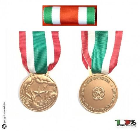 Set Medaglie Al Valor Civile Medaglia + Nastrino  Art. FAV-SET2