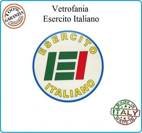 Vetrofania Adesivo  Esercito Italiano EI Senza Logo Repubblica  Tuscan Art.VET-4