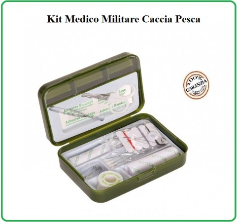 Tasca Kit Primo Soccorso First Aid Kit Survival Completa Fosco Militare Caccia Pesca Softair Art.469480