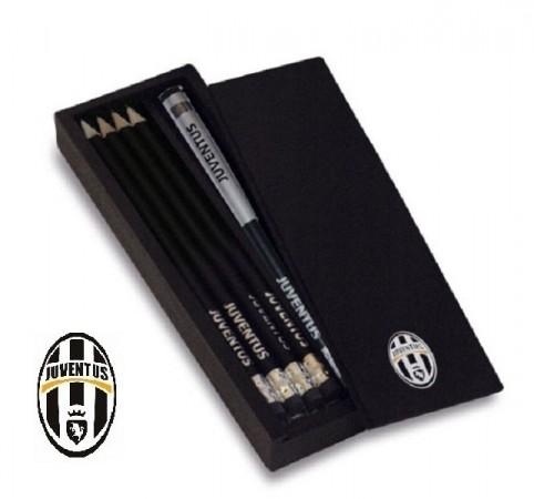 Set Matite e Temperino Calcio Juve  Originale Art. JU1328