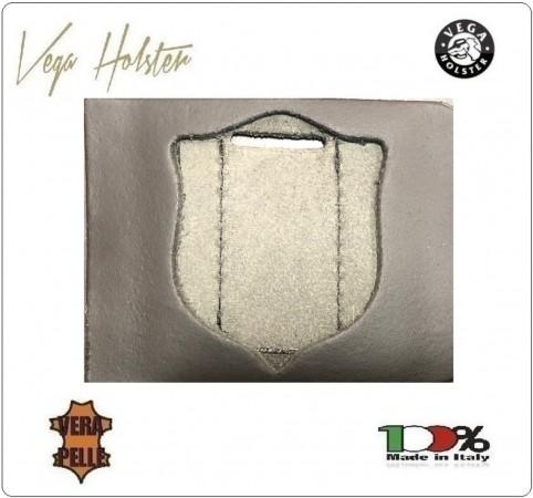 Supporto per Placca Cuoio Da Inserire Al Portafoglio Polizia di Stato 1WG Vega Holster Italia Art. 1WG-86