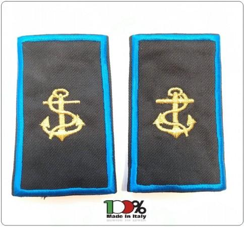 Tubolari Ricamati Bordo Azzurro Marina Italiana Assistente Ausiliari Portuali Civili Art.TUB-MM-CIV