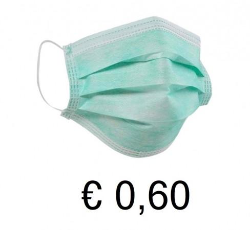Mascherina Monouso Verde Prezzo Calmierato al Pezzo €  0,45 al pezzo  Art. BBK-01