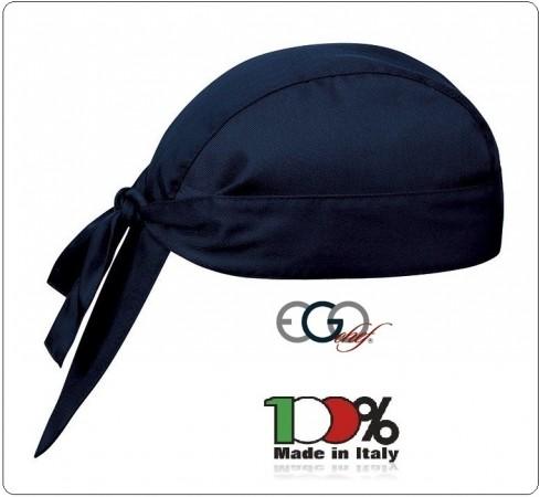Bandana Sagomata Professionale Sailor Blu Ego Chef Italia Art.7002006C