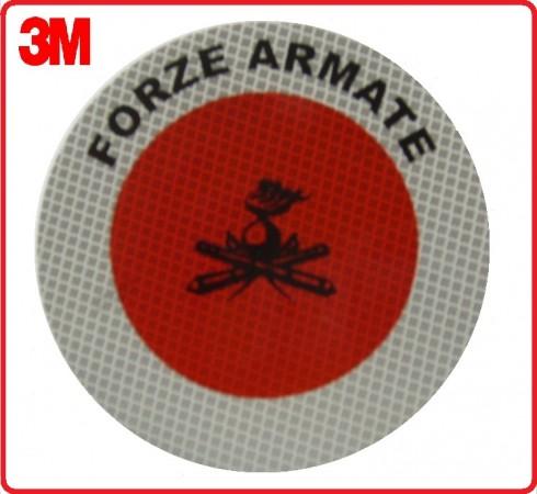 Adesivo 3M Per Paletta Rosso Forze Armate Art.R0028
