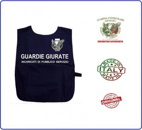 Corpetto Fratino Gabardina  Blu Con Stampa GPG IPS Guardia Particolare Giurate Art.AP4-GPG.IPS