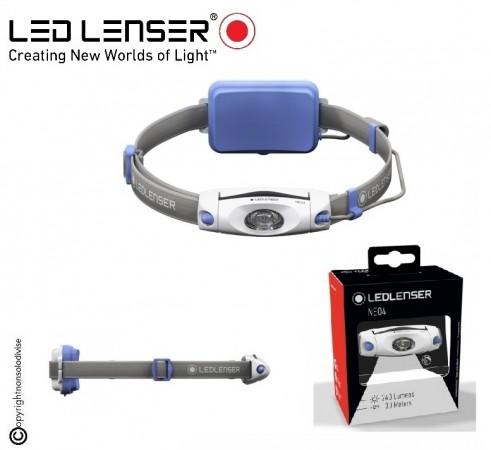 Torcia Frontale Professionale Protezione Civile  Speleologia Soccorso Montano LED LENSER NEO4 240 lm blu Lenser® Caccia Pesca Sport Corsa Art. 500914