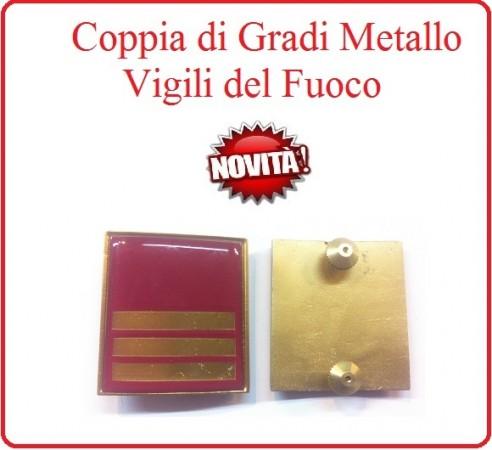 Coppia Gradi di Qualifica New Fondo Amaranto Vigili del Fuoco Capo Reparto Art.VVFF-G24