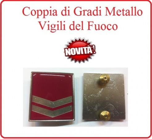 Coppia Gradi di Qualifica New Fondo Amaranto Vigili del Fuoco Esperto Art.VVFF-G19