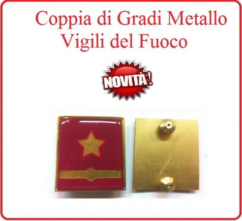 Coppia Gradi di Qualifica New Fondo Amaranto Vigili del Fuoco Sostituto Direttore Antincendio Capo Esperto Art.VVFF-G33