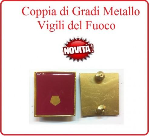 Coppia Gradi di Qualifica New Fondo Amaranto Vigili del Fuoco Vice Ispettore Antincendi Art.VVFF-G26