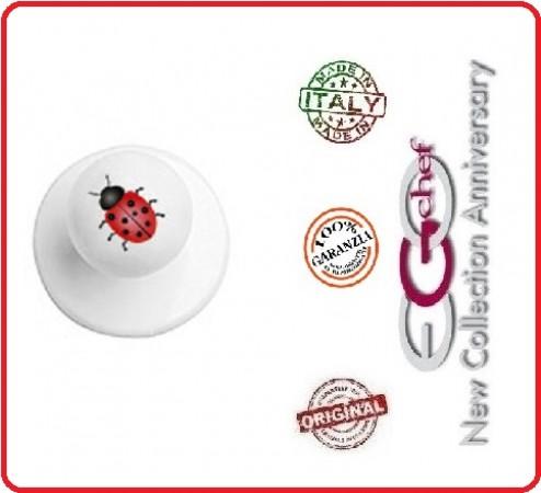Bottone Per Giacca Cuoco Chef Coccinella Portafortuna Ego Chef Nuovo  Art.Y640421