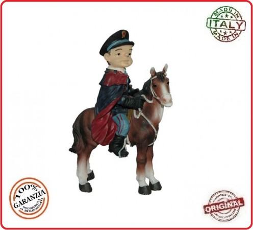 Statuina Polizia a Cavallo Dipinta a Mano Polizia di Stato  Art.Seu044 07045