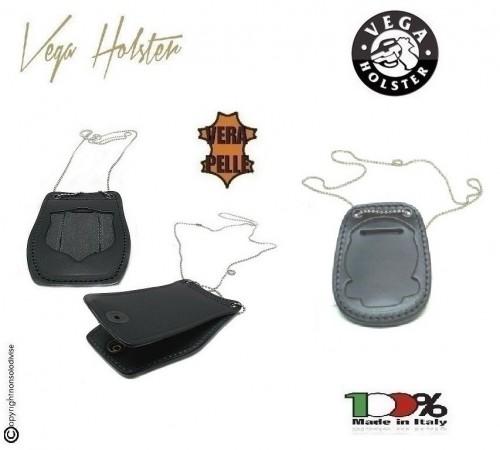 Portaplacca Porta Placca Porta Distintivo Doppio Uso Collo e Cintura Guardia di Finanza GDF Operativo Vega Holster Italia Art.1WB53