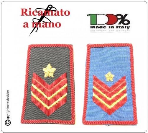 Tubolari Ricamati a Mano Carabinieri Invernali o Estivi Nuovi Gradi Riforma Appuntato Scelto Carica Speciale Art.CC-NEW-1