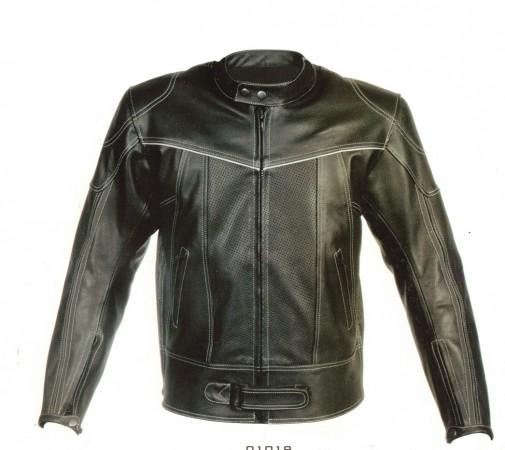 Giacca di pelle Moto Art.01019