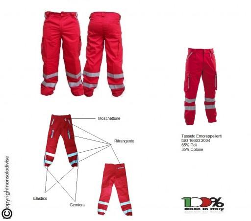 Pantalone Croce Rossa Italiana C.R.I. Nuovo Capitolato Emo Repellenti Art.SS-P-CRI