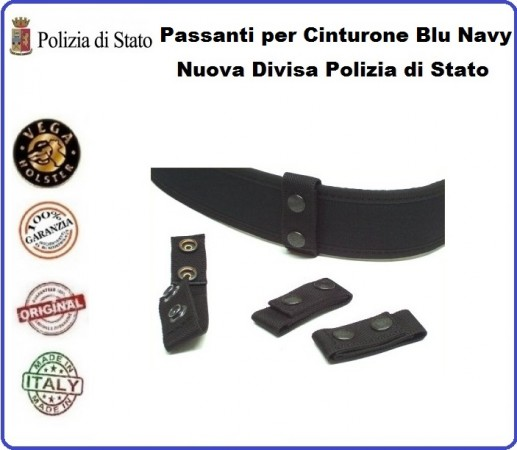 Distanziale Passante Cinturone Cordura Blu Navy Vega Holster Italia Nuova Divisa Polizia di Stato Art.2V00B