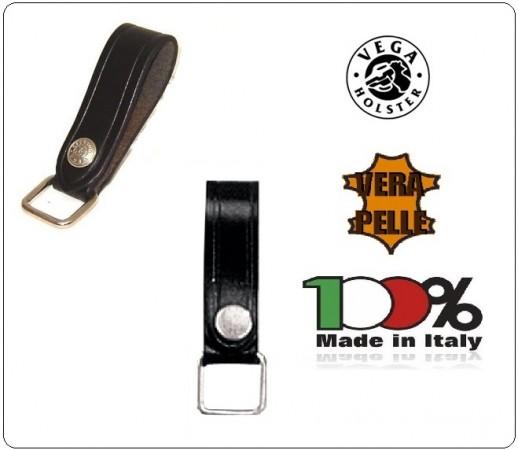 Porta Chiavi Vega Holster Italia Cuoio con Anello Quadrato da Cinturone Art.1V03