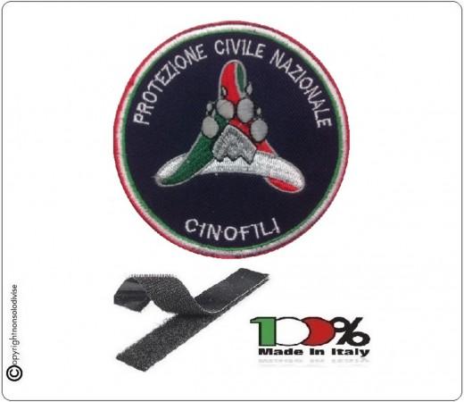 Patch Toppa Ricamata Protezione Civile Cinofili con Velcro cm 8  Art.NSD-PC-C
