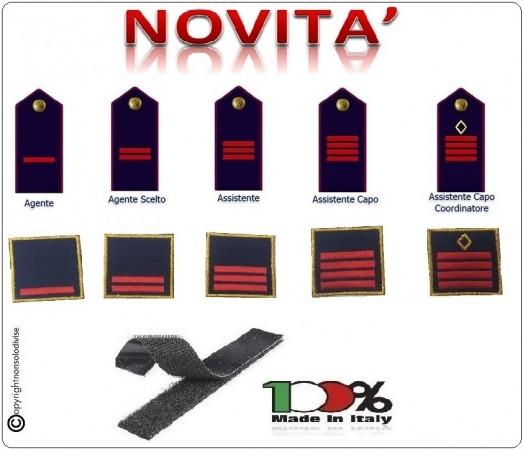 Gradi Tuta Ordine  Pubblico Ricamati con Velcro Polizia di Stato NUOVO MODELLO RIFORMA GRADI  Art.PS-NEW-1