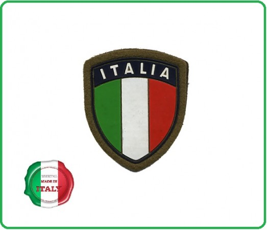 Patch Scudetto Itali Verde con Velcro  Art.GM001