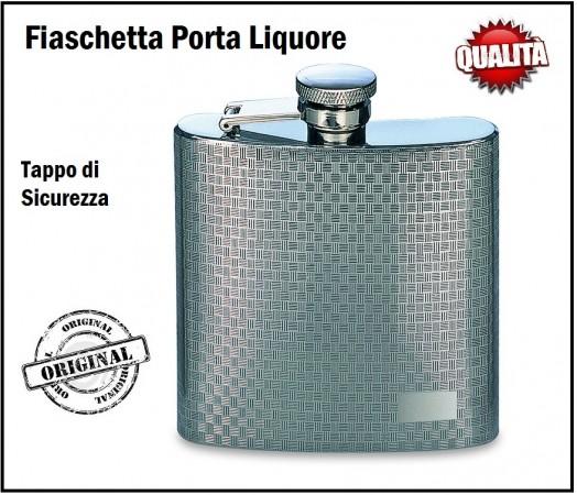 Elegantissma fiaschetta da tasca porta liquori o whisky 5 oz art b1690 - Carrello porta liquori ...