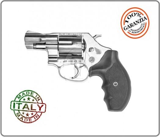 "Pistola a Salve Revolver Olimpic 2"" Calibro 380 Silver Bruni Art.NEW-380"