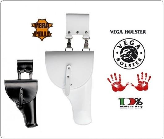 Fondina con Pattina per Polizia Locale Municipale BIANCA e Carabinieri Vigilanza NERA Vega Holster Italia Art.SB1
