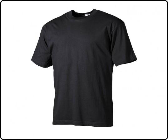 T-shirt Maglia Maglietta Girocollo Manica Corta Nera Art.00702A