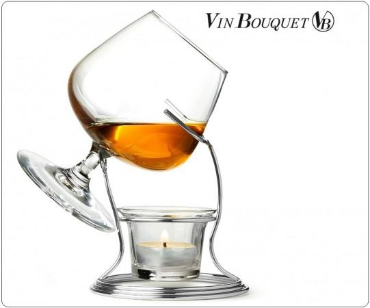 Set Degustazione Cognac & Brandy Bicchiere Candela Supporto Warmer Vin Bouquet Art.FIA269
