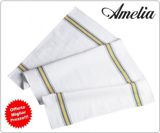 Strofinaccio Torcione da Cucina Ego Chef Colore Bianco con Profili 100% Cotone By Amelia Primo Prezzo per Scuola Alberghiera Art.AMELIA-5