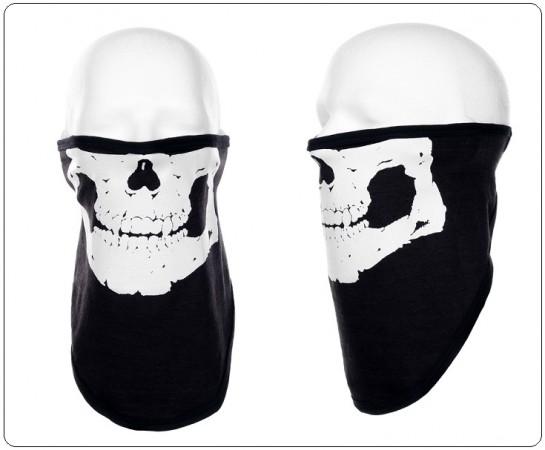 Maschera Facciale in Cotone Elasticizzato Teschio Motociclista Militare Soft Air INC101 Art. 219317