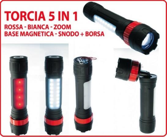 Lampada Torcia Led con Corpo Illuminante e Lampeggiante con Custodia Konus Konuslight 9 Art.3923