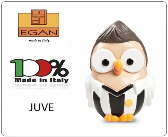 Gufo Gufetto Goofi Gofiplayer JUVE Idea Regalo o Bomboniera Collezione Porta Fortuna EGAN Prodotto e Dipinto a Mano in Italia Art.ML18CT/1WN