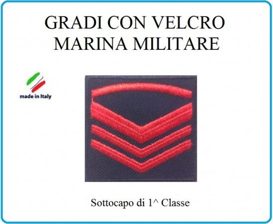 Grado a Velcro Giubbotto Navigazione Marina Militare Sottocapo di 1 C.  Art.M-6