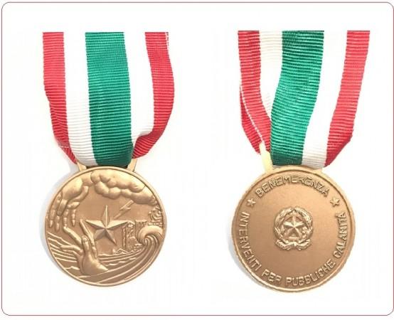 Medaglia Al Valor Civile Benemerenza per Pubbliche Calamità Art.MEDAGLIA-P