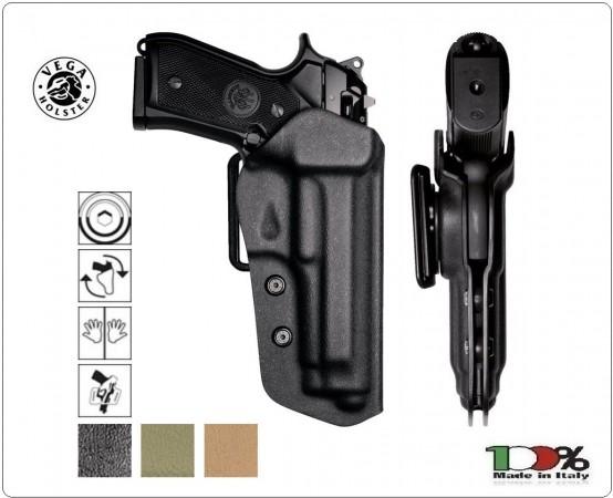 Fondina Professionale Fast In Polimero Termo Formata Vega Holster Italia Polizia Carabinieri Vigilanza GPG IPS Art. VKF8