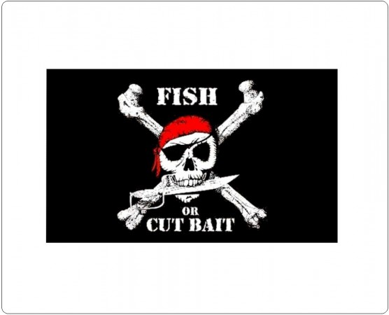 Bandiera Pirati Flag Fish or Cut Bait Art. 447256