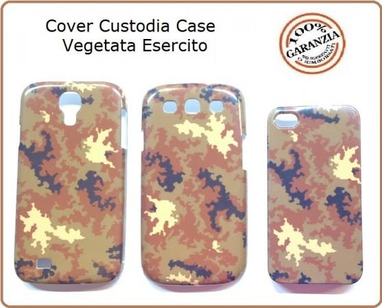 Cover Custodia Case Vegetata Esercito Italiano per I PHONE 4 Art.EUMAR-V1   Custodia in plastica rigida resistente agli urti