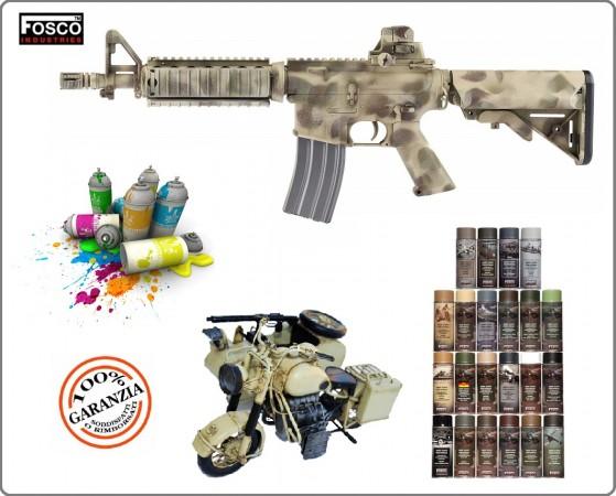 Vernicie Spray Militare Opaca  Per Veicoli o Fucili  Armi Vere e da Soft Air 400 ml FOSCO  Art.469312