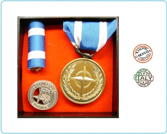 Set Medaglie Italfor Bosnia Missione Esercito Carabinieri Art.FAV-SET5