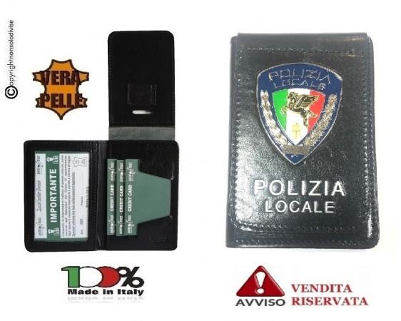 Portafoglio Portadocumenti con Placca Fissa Polizia Locale VENDITA RISERVATA Italia Art.600PL13